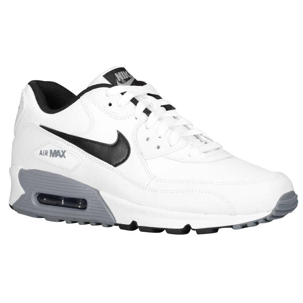 nike air max 90 essential leather white black cool grey